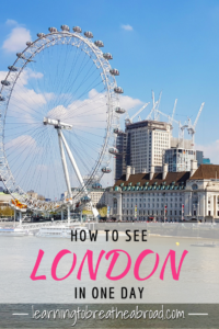How to See London in One Day
