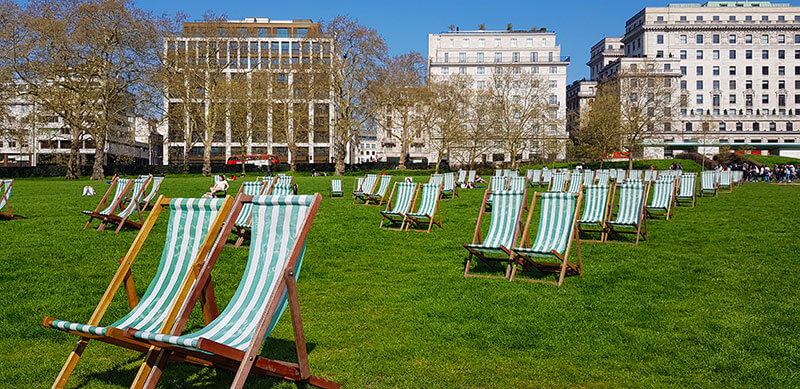 how to see london in one day - Green Park
